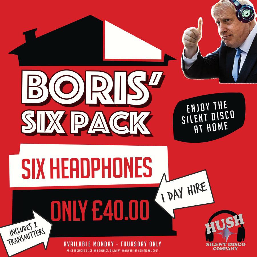 Boris' Six Pack - Six Headphones for only £40